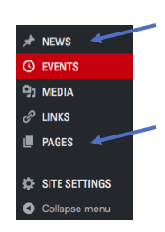 WordPress left menu