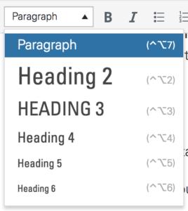 Image of Header menu