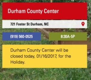 Image of closure announcement