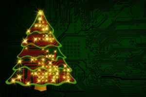 Image of circuit Christmas tree