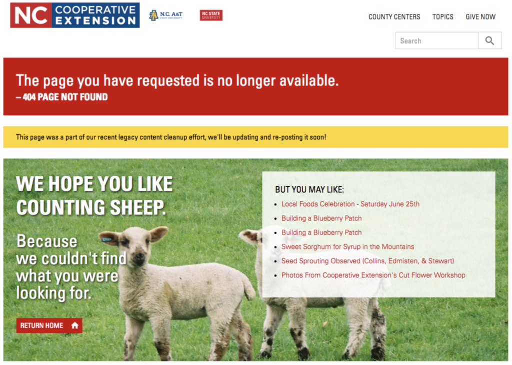 404 Alert - Needs Updating image