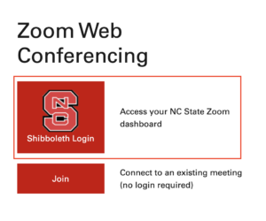 Zoom Shibboleth screen