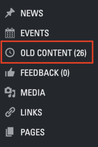 Old Content link