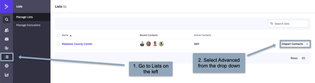 ActiveCampaign List Advanced Settings